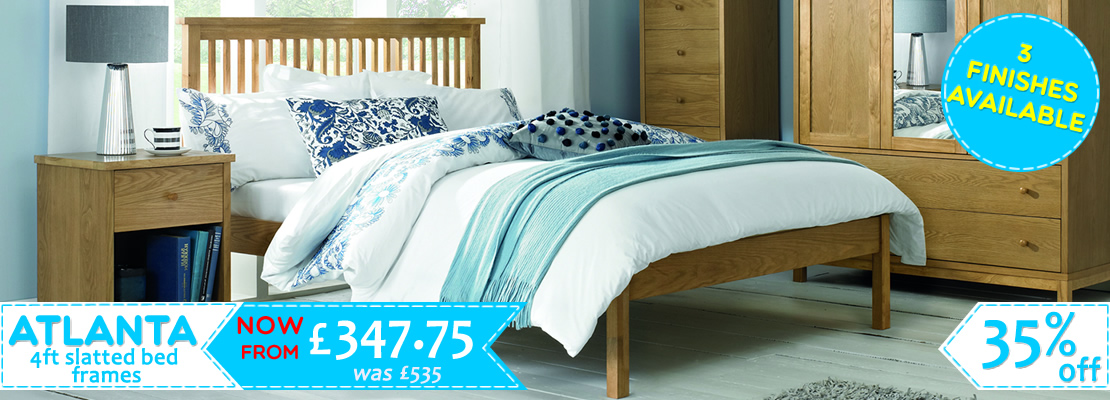 HOMEPAGE - Atlanta 4ft slatted beds - 40% off