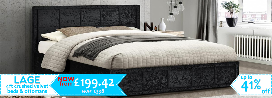 Alexa 4ft Velvet Beds - 20% OFF