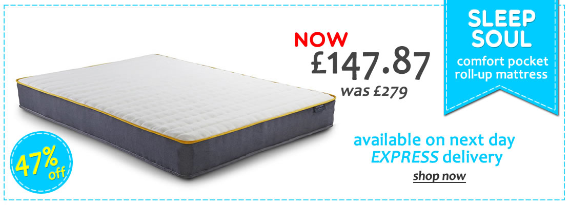 Sleep Soul Comfort Mattress - 47% OFF