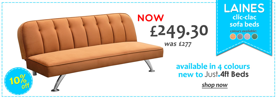 HOMEPAGE - Laines Sofa Beds - 10% Off