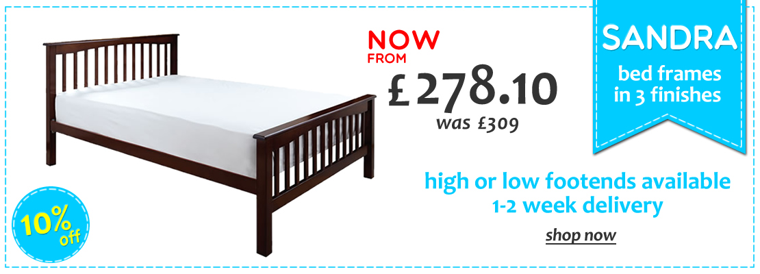HOMEPAGE - Sandra Slatted Beds - 10% OFF