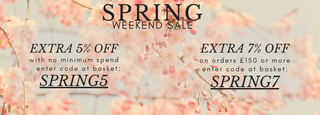 SALE - Spring Sale 5% and 7%