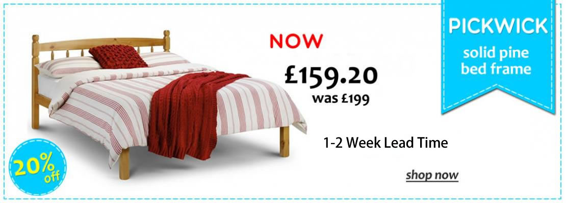 HOMEPAGE - Pickwick Solid Pine Bed - 20%