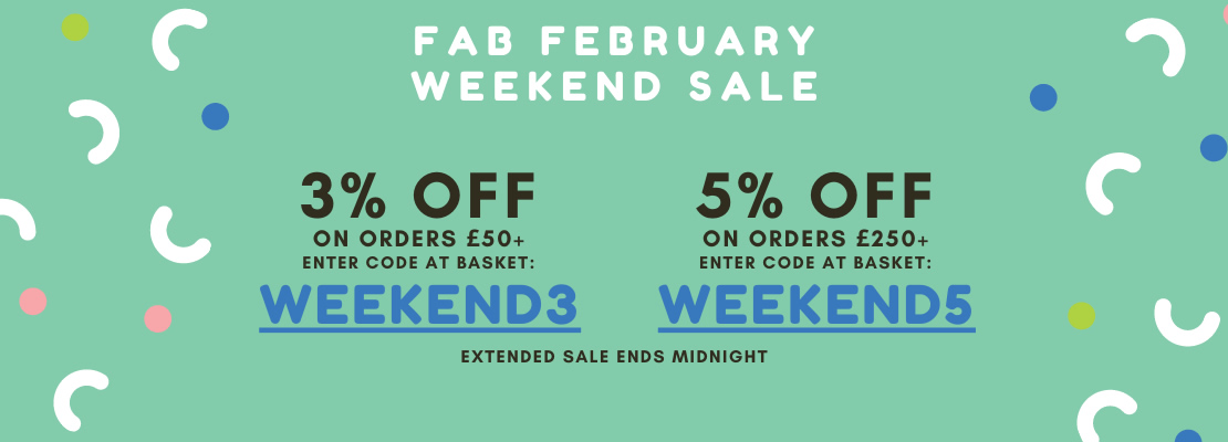SALE - Weekend Sale Extended - 3% and 5%