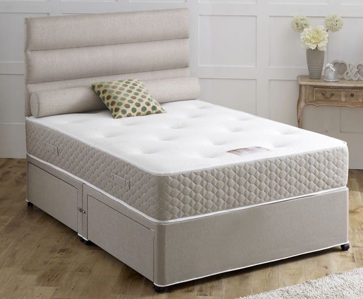 Piper small double 4ft 1000 pocket spring orthopaedic for Small double divan set
