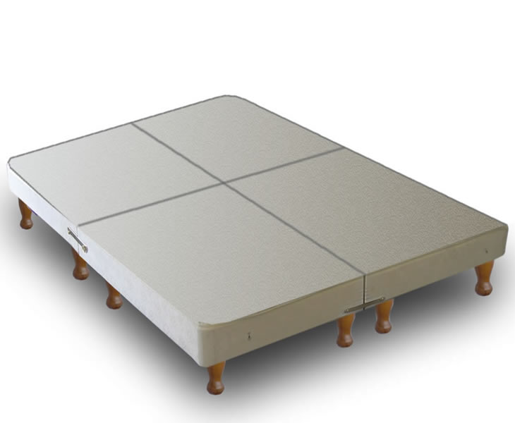 just4ftbeds.co.uk Warwick Small Double 4ft Divan BASE ONLY on Legs - Split into 4 Parts