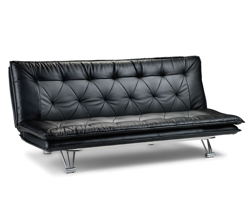 Elan 115cm faux leather clic clac sofa bed just 4ft beds - Dimensions clic clac ...