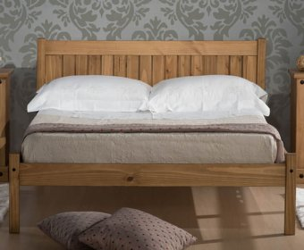 Mendes 4ft Pine Wooden Bed
