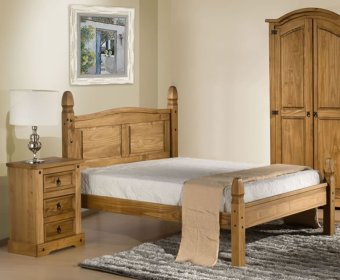 Charlbury 4ft Low Foot End Pine Bed