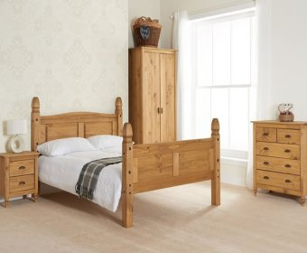 Charlbury 4ft High Foot End Pine Bed