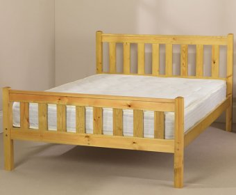 Kansas Shaker Small Double 4ft Pine High Foot End Bed