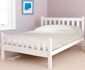 Kansas Shaker Small Double 4ft White High Foot End Bed