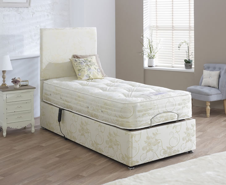 Regency adjustable small double 4ft divan set for Small double divan set