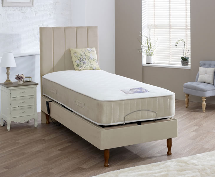 Catherine adjustable small double 4ft divan set for Divan 4ft beds