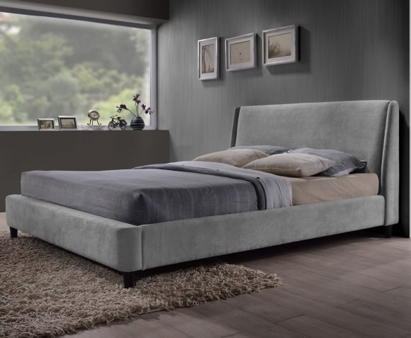 Addison Small Double 4ft Grey Upholstered Bed