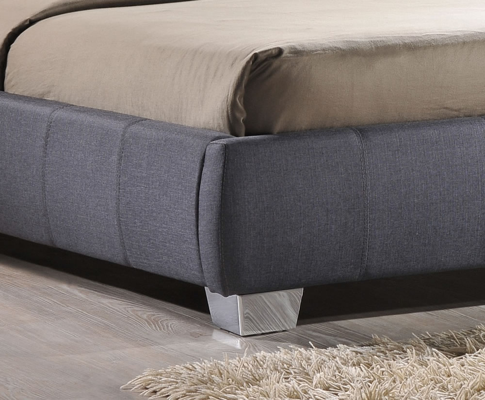 Ruxley Small Double 4ft Grey Upholstered Bed