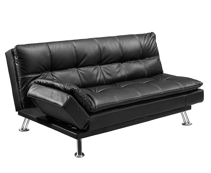 Sofa beds Malda 116cm Black Faux Leather Sofa Bed sofa bed