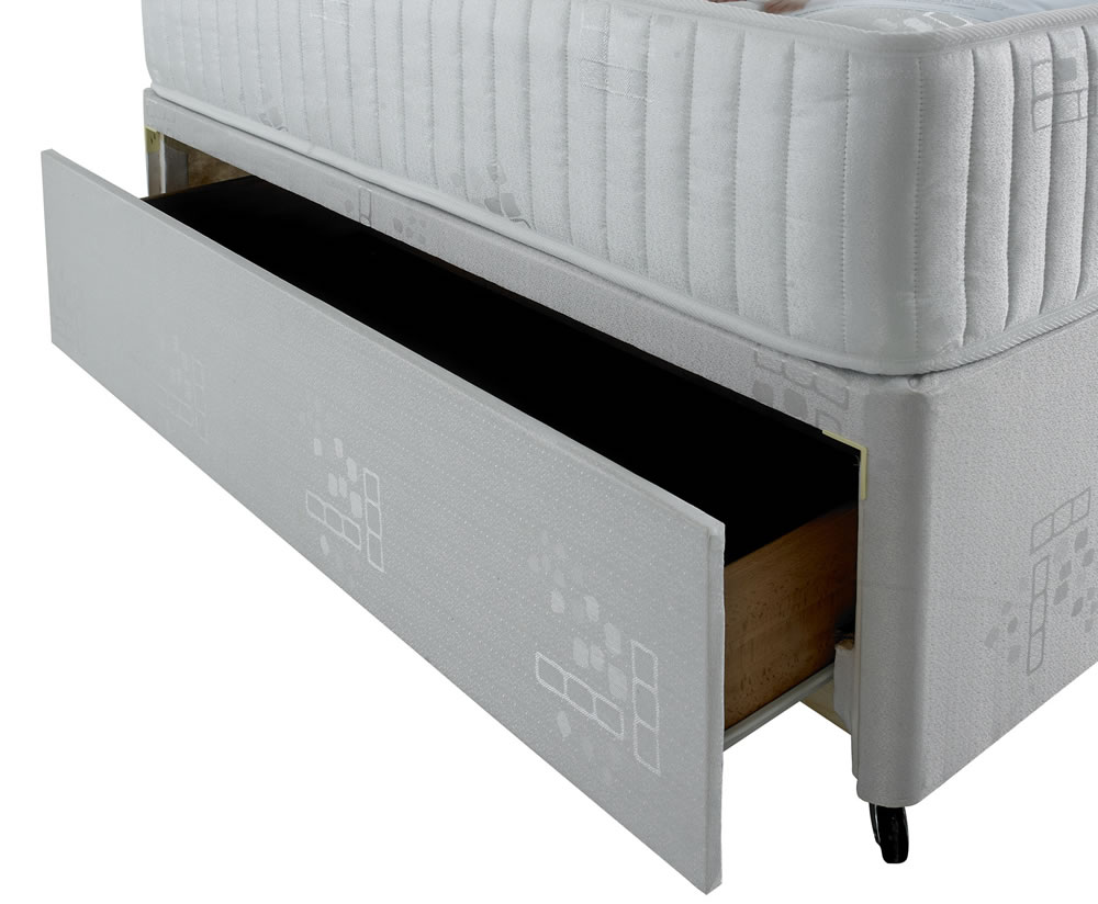 Tahlia small double 4ft coil sprung divan set for Small double divan set