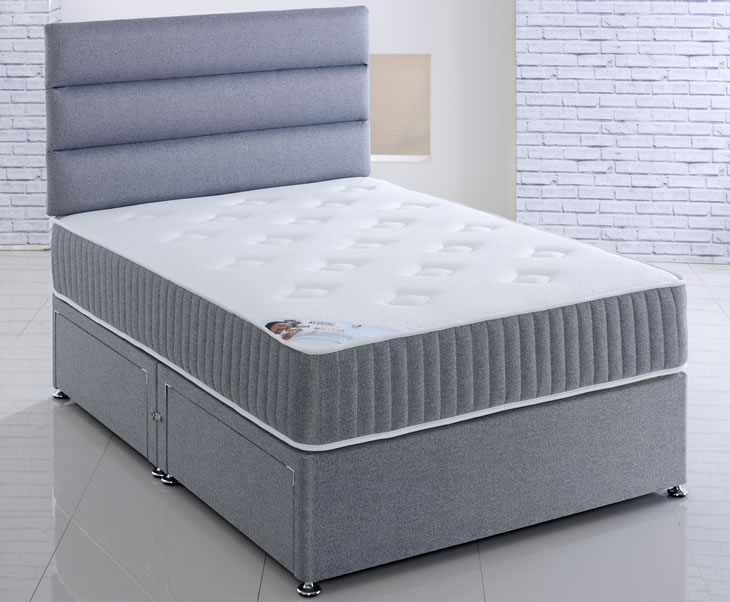 just4ftbeds.co.uk Olivia 4ft Small Double Open Coil Spring Divan Set no drawers headboard - no thank you