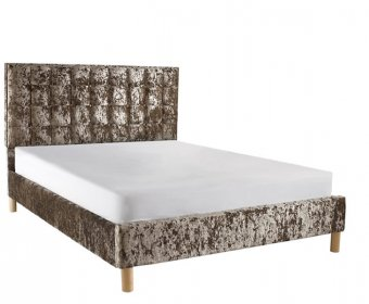 Roman Small Double 4ft Crush Velvet Low Footend Bed