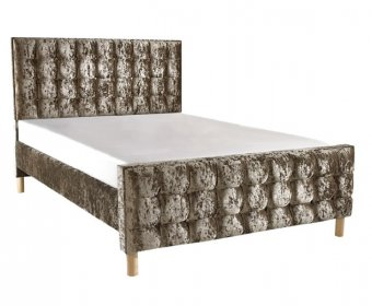 Roman Small Double 4ft Crush Velvet High Footend Bed