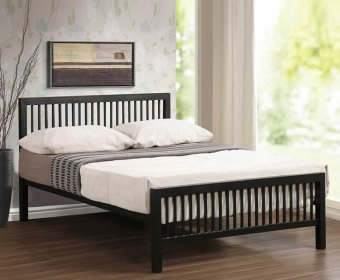 Corby Small Double 4ft Black Metal Bed