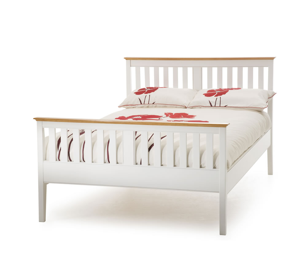 Christine 4ft Small Double High Footend White Bed Frame Just 4ft Beds