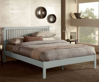 Maya Hevea Grey Small Double 4ft Bed