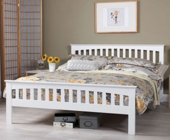 Bonetti Hevea Opal White Small Double 4ft Bed