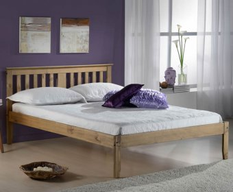 Johnson 4ft Pine Wooden Bed
