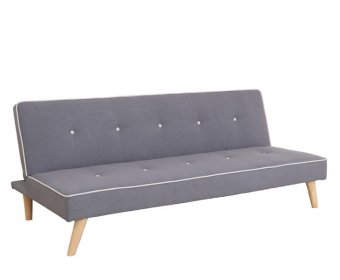 Parker 111cm Grey Fabric Sofa Bed
