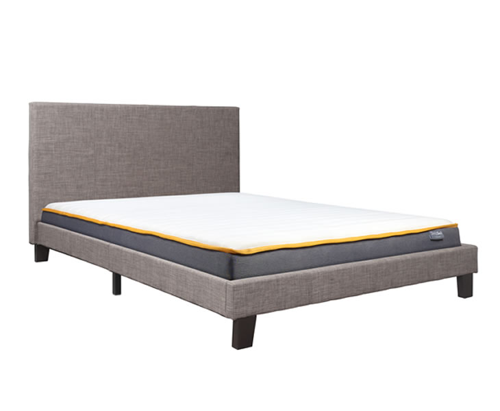Tamer Small Double 4ft Grey Fabric Upholstered Bed