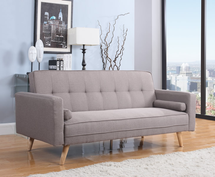 just4ftbeds.co.uk Jamestown 109cm Grey Fabric Sofa Bed