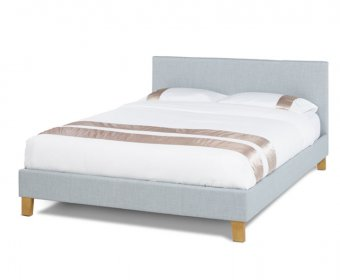 Sophia Small Double 4ft Ice Upholstered Bed
