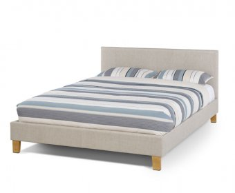 Sophia Small Double 4ft Linen Upholstered Bed