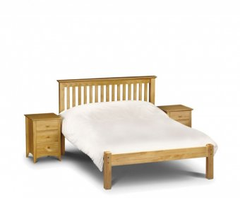 Barcelona Small Double 4ft Pine Low Footend Bed