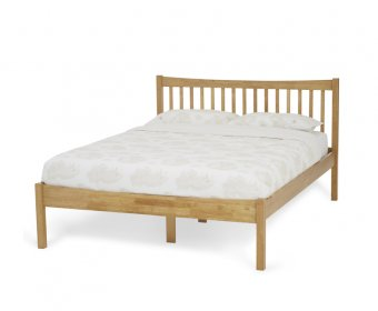 Beatrice Small Double 4ft Honey Oak Hevea Bed Frame