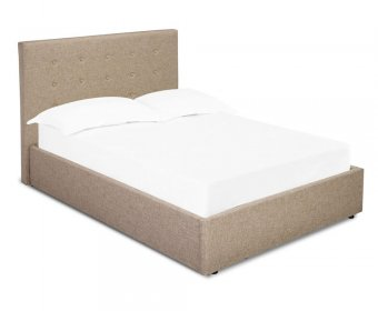 Lucca Beige Small Double 4ft Ottoman Bed