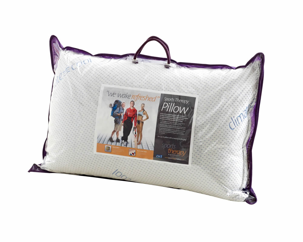 just4ftbeds.co.uk Sports Therapy Soft Knit Cooling Pillow