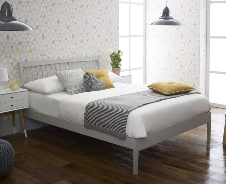 Small Double Frame Ananke Small Double 4ft Grey Bed