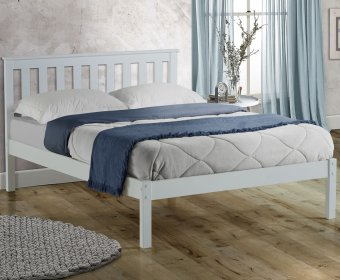 Kennedy 4ft Shaker White Wooden Bed
