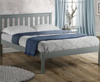Kennedy 4ft Shaker Grey Wooden Bed