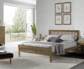 Sandy 4ft Small Double Oak Bed
