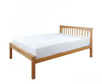 Sandra Beech Wooden Small Double 4ft Low Foot End Bed