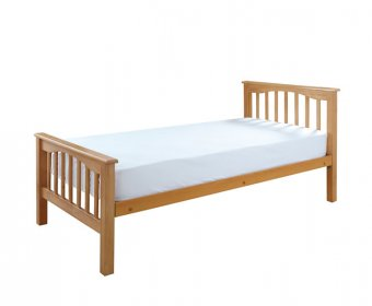 Sandra Beech Wooden Small Double 4ft High Foot End Bed