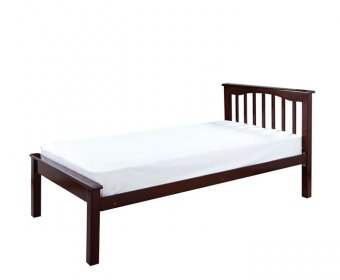 Sandra Walnut Wooden Small Double 4ft Low Foot End Bed