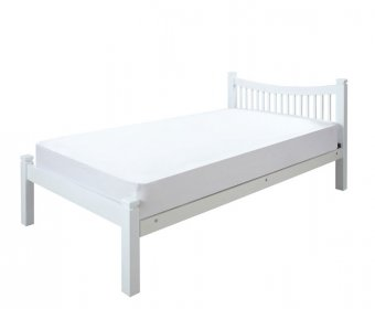 Harley White Wooden Small Double 4ft Bed