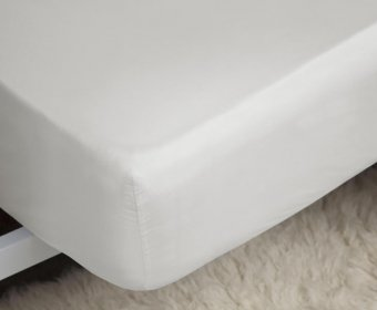 Adrisen Fitted Sheet 4ft Small Double 400 Egyptian Cotton