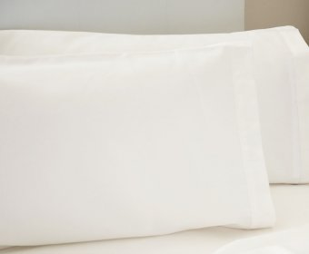 Abcon Standard Pillow Case 4ft Small Double 200 Egyptian Cotton