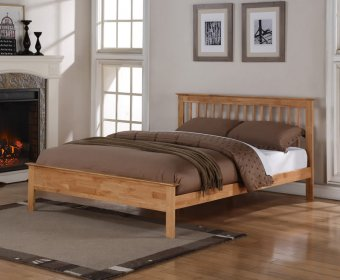 Peyton 4ft Small Double Oak Bed Frame